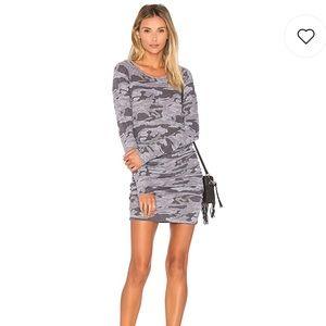 Grey Monrow Camo Long-sleeve Dress